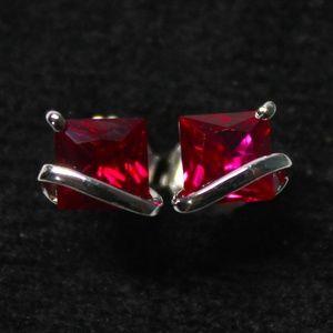Jewelry - Sterling Silver Ruby Stud Earrings